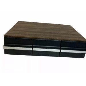 Wooden Cassette Tape Box Drawer Organizer 36 Tapes